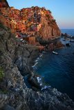 De Ertsader van Manarola, Cinque Terre, Italië Royalty-vrije Stock Foto's