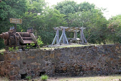 De Ertsaderbaai Sugar Mill - St John, USVI Stock Foto