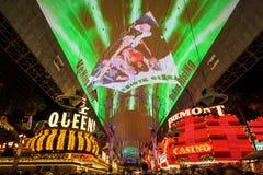 De ervaring van de Fremontstraat in Las Vegas Royalty-vrije Stock Afbeeldingen