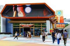De ervaring van de ijzermens en Expo-winkel in disneyland Hongkong stock afbeelding