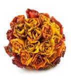 De esdoorn doorbladert in vorm van rozen royalty-vrije stock afbeelding