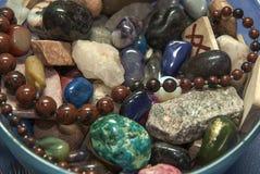 De esoterische en gekleurde stenen Royalty-vrije Stock Foto's