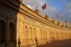de Espana część placu Seville Spain wierzch Zdjęcie Royalty Free