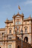 de Espana espanol palacio plac Seville Fotografia Stock