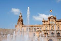 de Espana espanol palacio plac Seville Fotografia Royalty Free