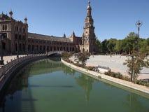 de Espana plac Seville Spain Zdjęcie Stock