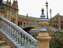 de Espana plac Seville Spain Zdjęcia Stock