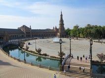 de Espana plac Seville Spain Zdjęcia Royalty Free
