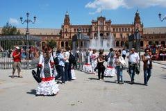 de espana plaza seville Στοκ φωτογραφίες με δικαίωμα ελεύθερης χρήσης