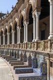 de espana plaza seville spain Arkivbilder