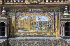de espana plaza seville spain Royaltyfri Fotografi