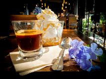 De espresso bedriegt panna Royalty-vrije Stock Foto's