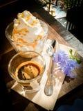 De espresso bedriegt panna Royalty-vrije Stock Afbeeldingen