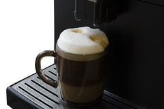 De espressomachine van de rookwolkkoffie Royalty-vrije Stock Afbeelding