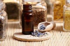 De essentiële olie van de lavendel Stock Afbeelding