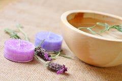 De essentie van de lavendel Royalty-vrije Stock Foto's