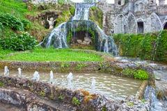 De este16th-Eeuw van villad 'fontein en tuin, Tivoli, Italië De Plaats van de Erfenis van de Wereld van Unesco royalty-vrije stock foto's