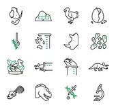De-estinzione, o insieme della raccolta delle icone di vettore di biologia di resurrezione royalty illustrazione gratis