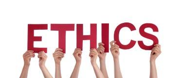 De Ethiek van de mensenholding Stock Foto's