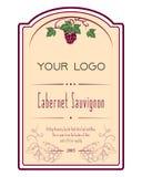de etiketillustratie wervelt de wijn van het druivenfruit stock illustratie