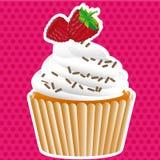 De etiketten van Cupcake Stock Foto