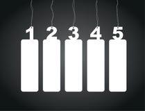 De etiketten van de aantalmarkering Royalty-vrije Stock Foto