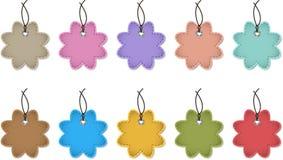 De etiketten van de bloem Stock Foto