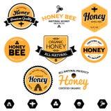 De etiketten van de honing vector illustratie