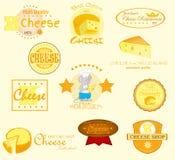 De Etiketten van de kaas Royalty-vrije Stock Afbeelding