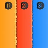 De etiketten van de kleur voor uw tekst (met gescheurd effect) Stock Foto