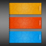 De etiketten van de kleur voor uw tekst (op grijs) Stock Afbeeldingen
