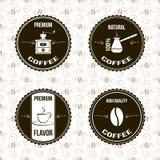 De etiketten van de koffie vector illustratie