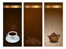 De etiketten van de koffie en van de thee royalty-vrije illustratie