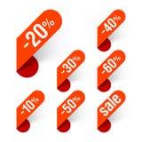De etiketten van de korting Stock Fotografie