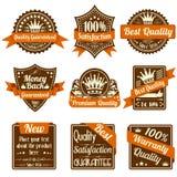 De Etiketten van de kwaliteit en van de Waarborg royalty-vrije illustratie