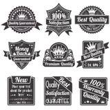 De Etiketten van de kwaliteit en van de Waarborg stock illustratie