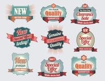 De Etiketten van de Kwaliteit & van de Waarborg van de premie royalty-vrije illustratie