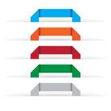 De etiketten van de origami Stock Afbeelding