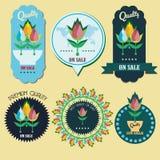 De etiketten van de tulpenbloem Royalty-vrije Stock Afbeelding