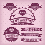 De etiketten van de valentijnskaart Royalty-vrije Stock Foto