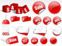 De etiketten van de verkoop Stock Afbeeldingen