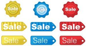 De etiketten van de verkoop Stock Fotografie
