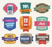 De Etiketten van de verkoop Stock Afbeelding