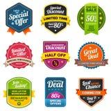 De etiketten van de verkoop Royalty-vrije Stock Foto's
