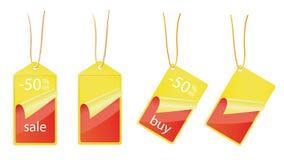 De etiketten van de verkoop - 50% WEG Royalty-vrije Stock Foto