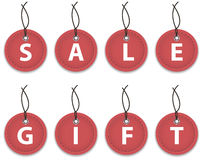 De etiketten van de verkoop en van de gift Royalty-vrije Stock Fotografie