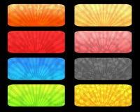De etiketten van de zonsopgang Royalty-vrije Stock Afbeeldingen