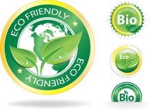 De Etiketten van Eco stock illustratie