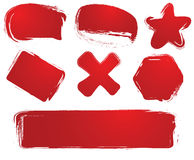 De etiketten van Grunge royalty-vrije illustratie