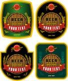De etiketten van het bier Stock Afbeeldingen